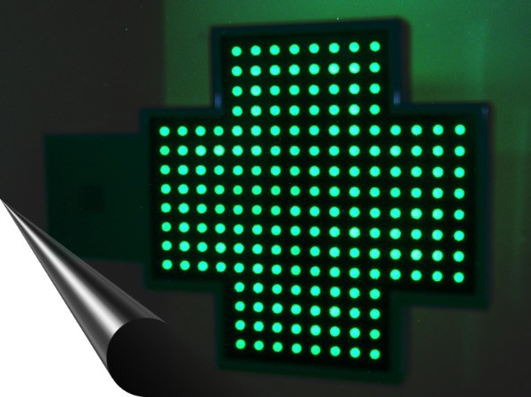 cruz farmacia de leds